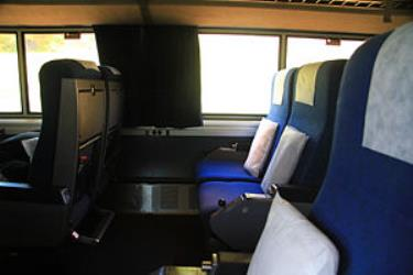 Standard Amtrak coach interior
