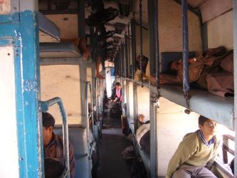 Example of Indian train interior