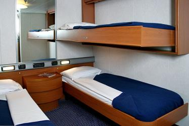GNV ferry room interior