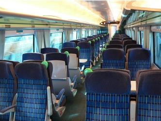Standard Interior of Irish Rail