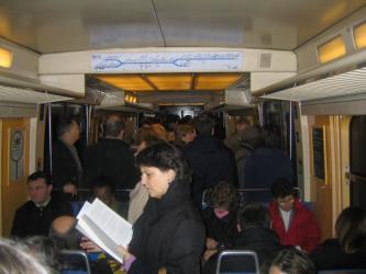 Interior of a RER B