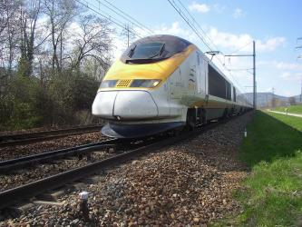 The Eurostar through France