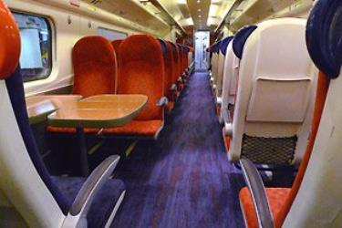 Pendolino train interior