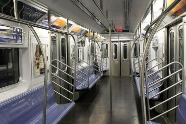 Interior of NYC Subway