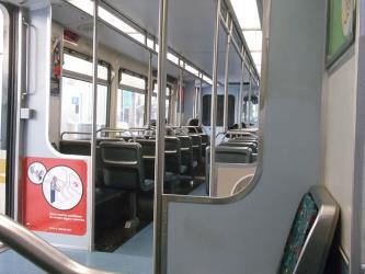 Interior of LA Metro Blue Line Train