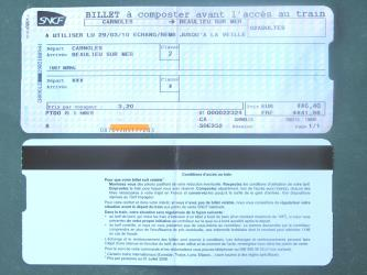 SNCF sample ticket
