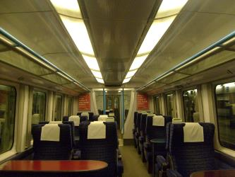 Interior of 1st class