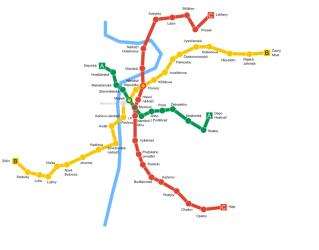 Prague subway map