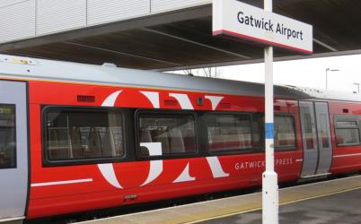 Train at Gatwick startion