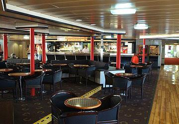 Pub on board DFDS ferry