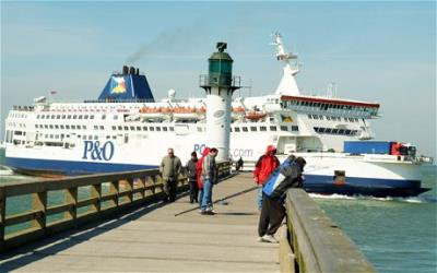P&O Ferry approaching Calais Port